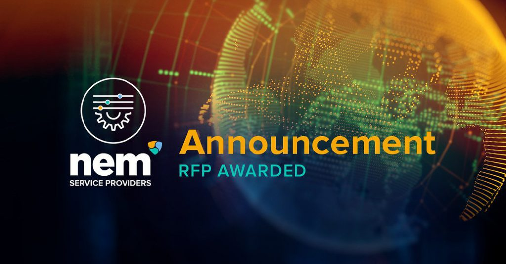 NEM SP Programme Announcement - First Contract Awarded