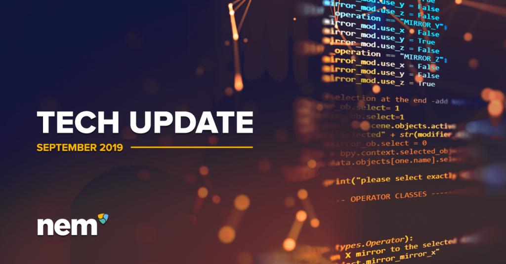 Technology Department Update - September 2019